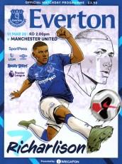 Everton                                              1-2                                              Manchester United