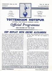 Tottenham Hotspur                                              13-2                                              Crewe Alexandra