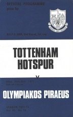 Tottenham Hotspur                                              vs                                              Olympiakos
