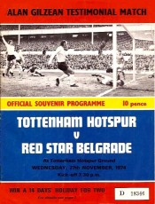 Tottenham Hotspur                                              vs                                              Red Star Belgrade