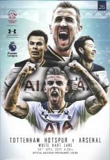 Tottenham Hotspur                                              2-0                                              Arsenal