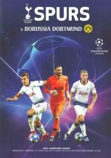 Tottenham Hotspur                                              3-0                                              Borussia Dortmund