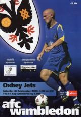 AFC Wimbledon vs Oxhey Jets