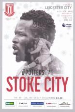 Stoke City                                              vs                                              Leicester City