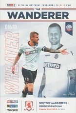 Bolton Wanderers                                              vs                                              Middlesbrough